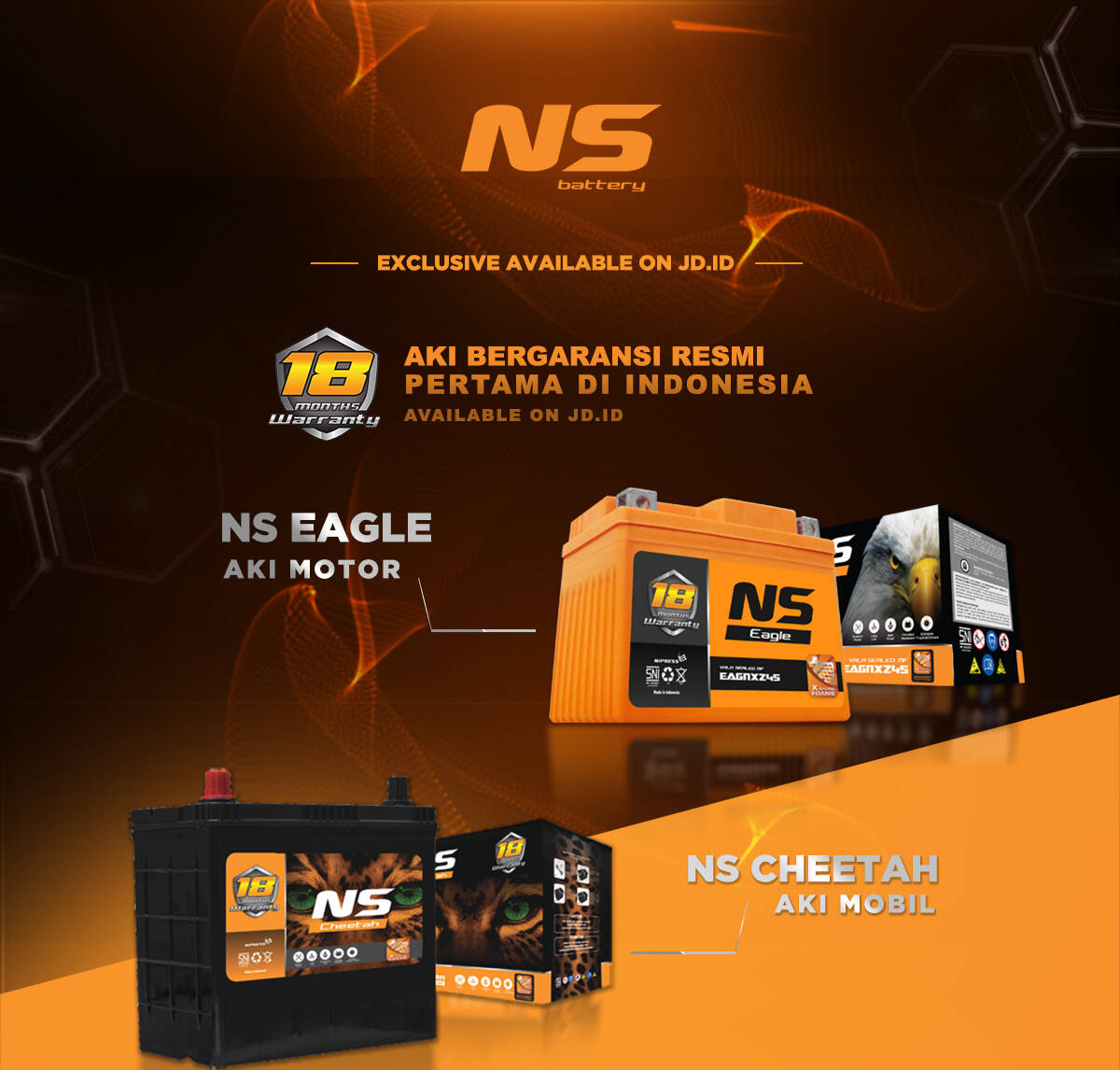 Promo Ns Battery New Arrival Paket Aksesoris All Scoopy Stylish Brown